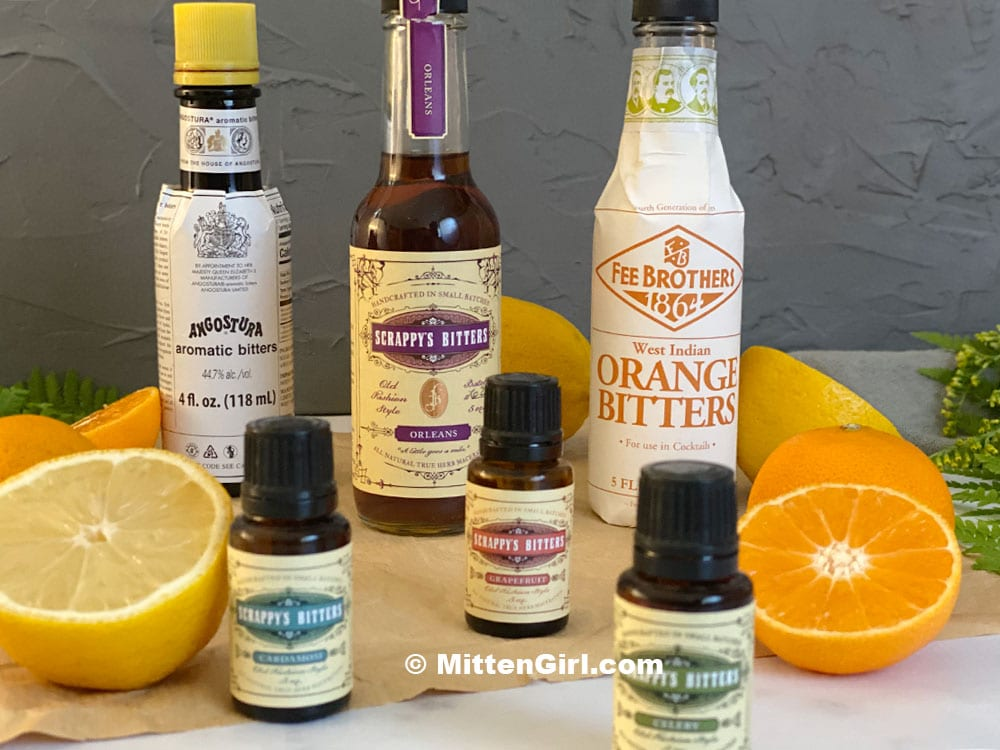 A variety of bitters flavors